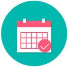 ícone demonstrativo de calendário